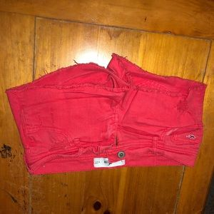 Red Hollister Shorts